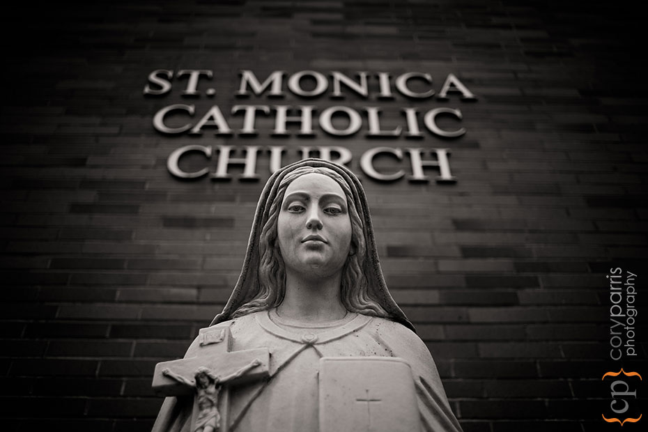 St. Monica Catholic Church wedding