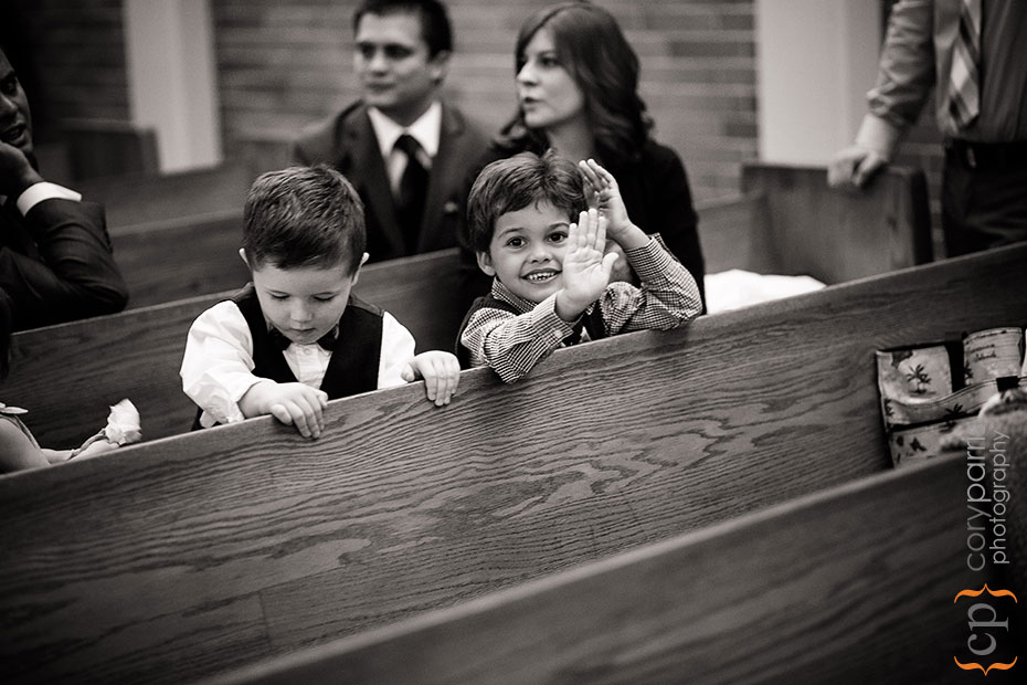 little boys at a wedding
