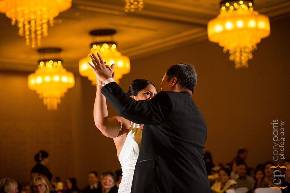 bride and her father dancing