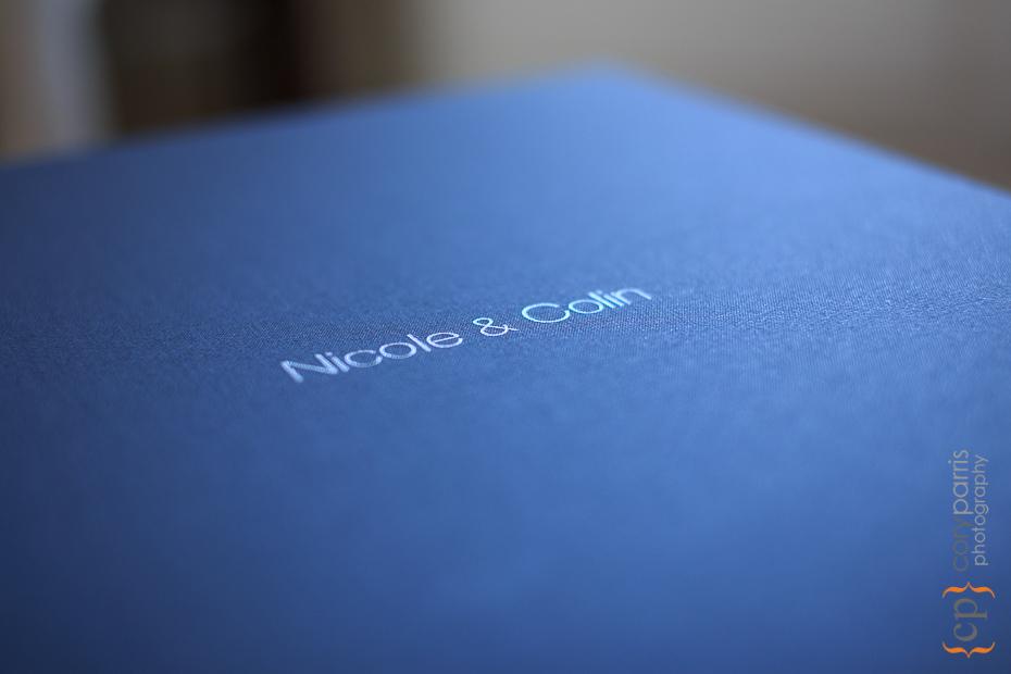 wedding album box imprinting