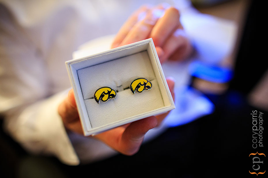 University of Iowa Hawkeyes cufflinks