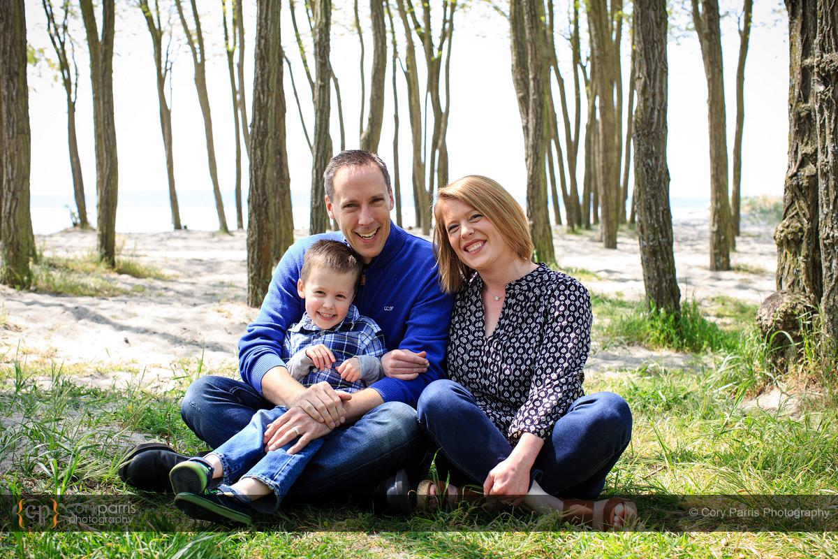 Family portrait at Golden Gardens