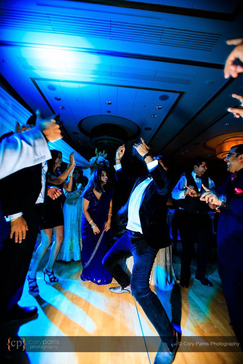 Hyatt Bellevue wedding reception