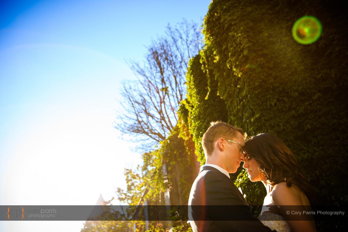 Occidental Park wedding portrait