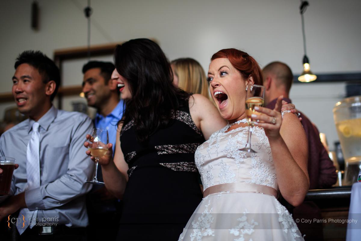 The Sole Rapair Shop wedding reception