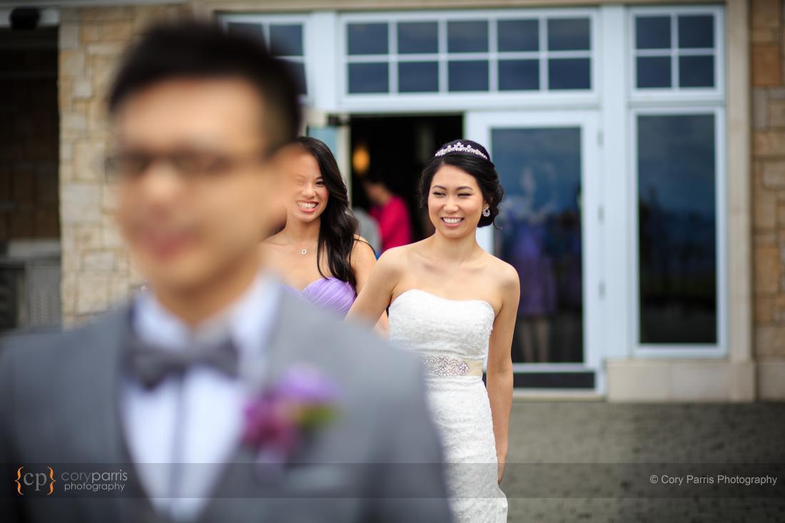 First look newcastle wedding