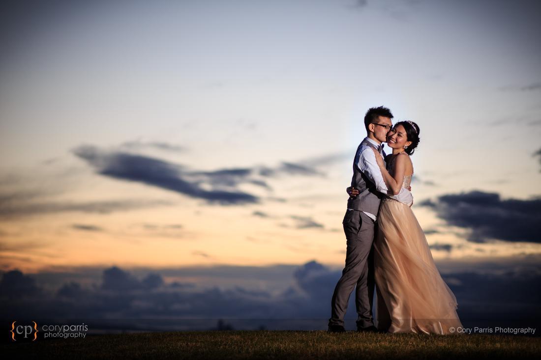 Sunset Newcastle wedding