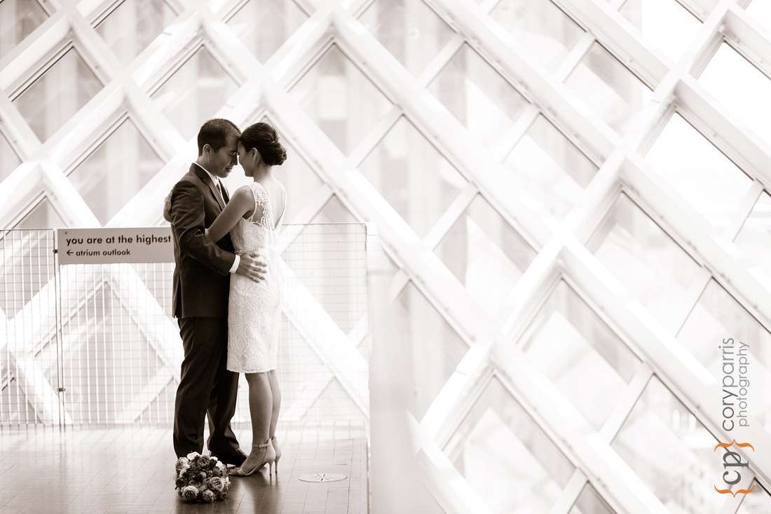 Seattle Library Wedding Photography