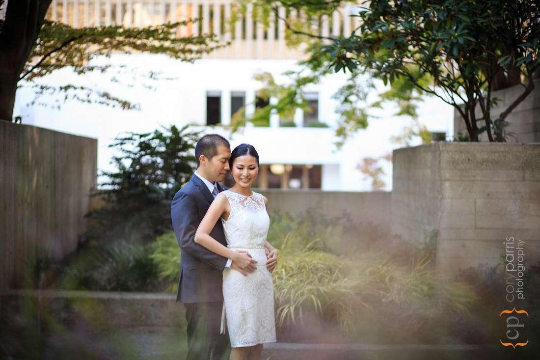 Freeway Park wedding photography Seattle