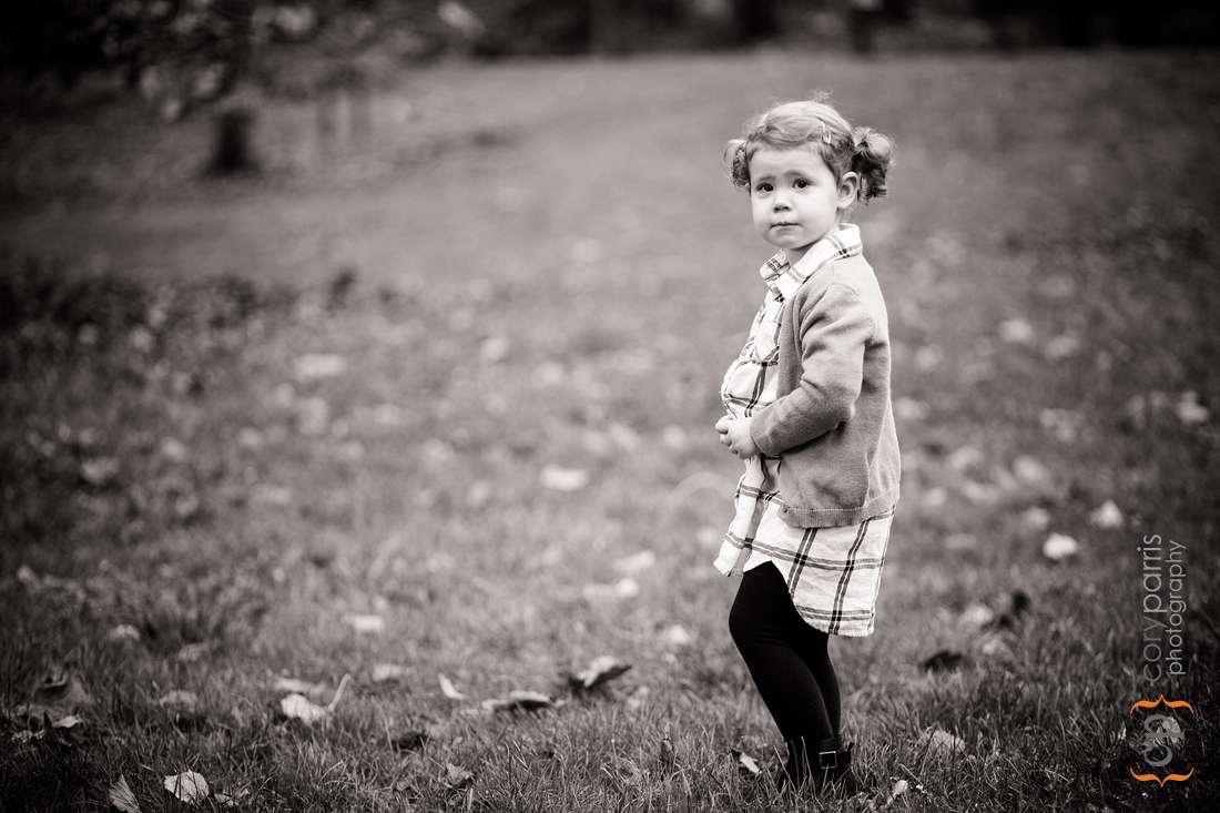 child portraits at Washington Park Arboretum