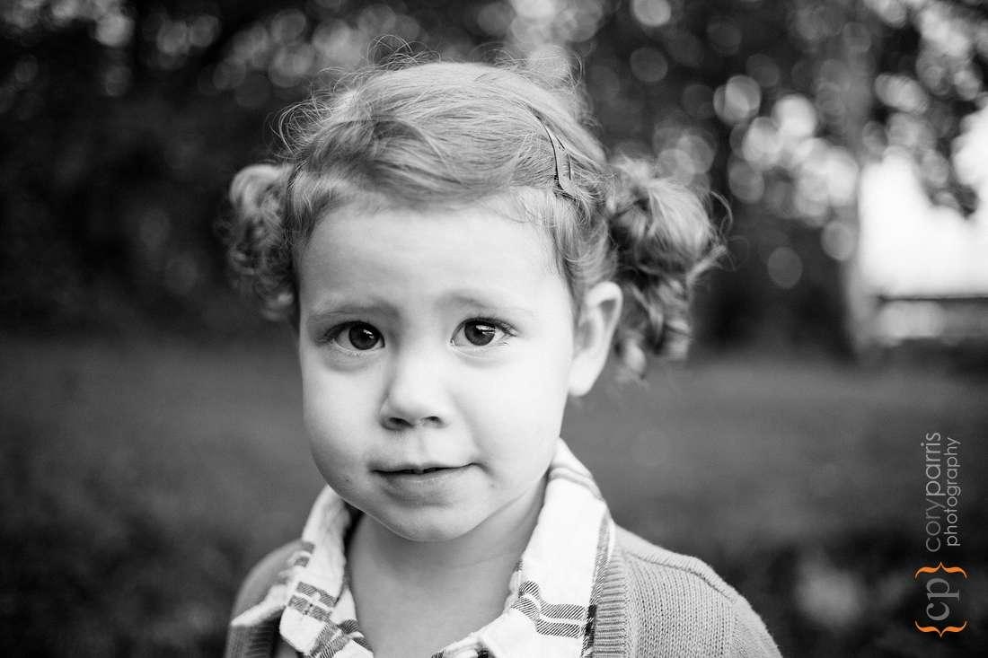 Cute kids portrait at Seattle Arboretum