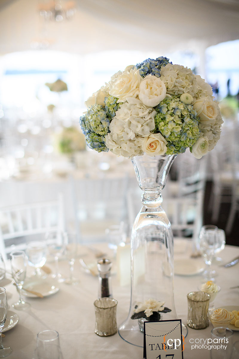 Wedding flowers at the Woodmark hotel
