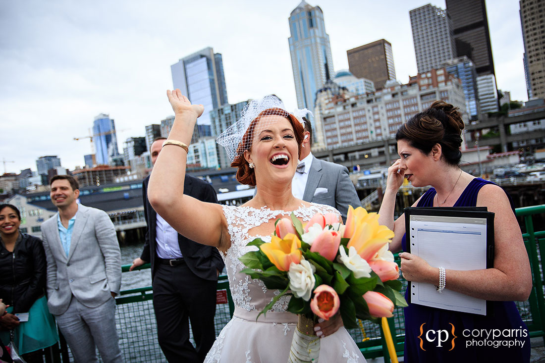 Wedding high five seattle photography