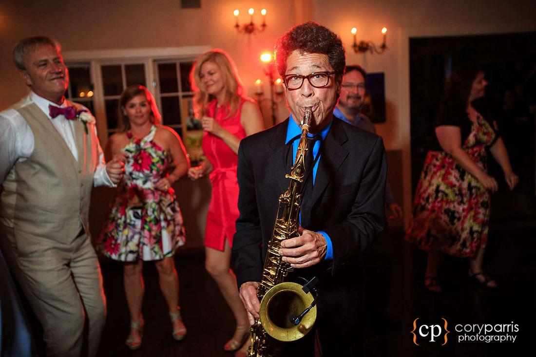 saxophone player at seattle wedding