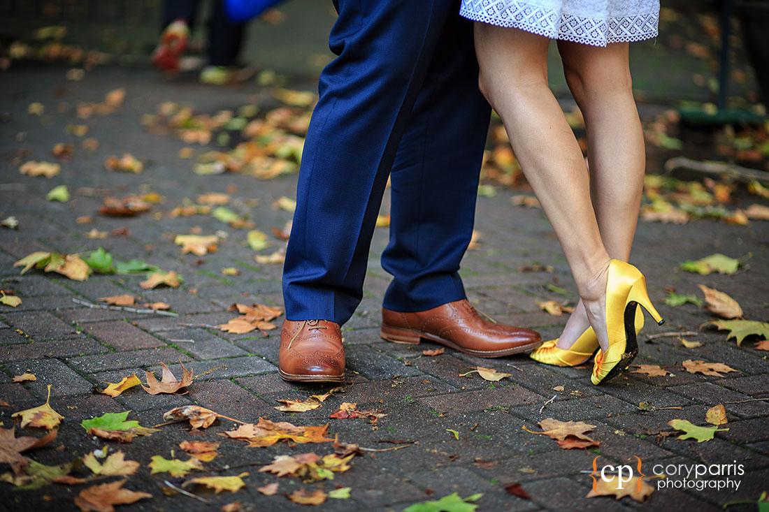 Yellow wedding shoes!