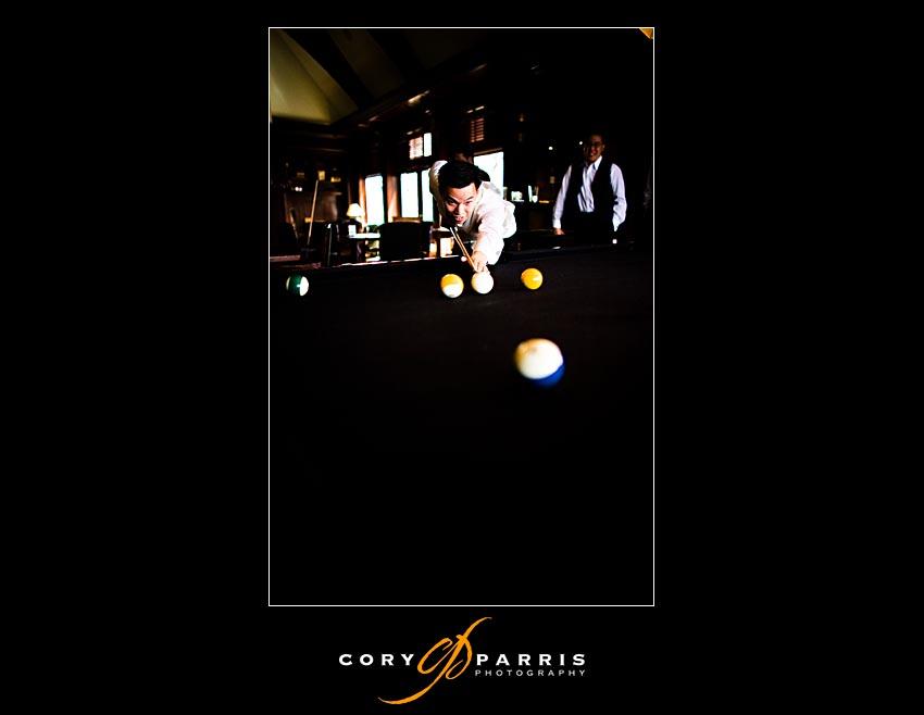 groom playing pool at newcastle golf club