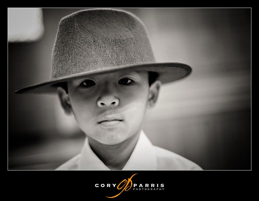 boy with Indiana Jones Hat