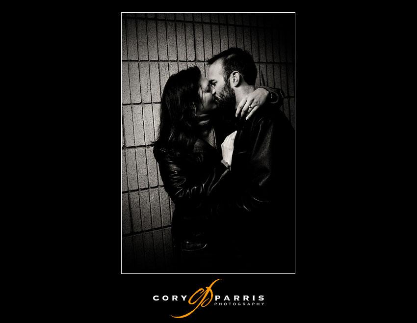 Night scene of couple