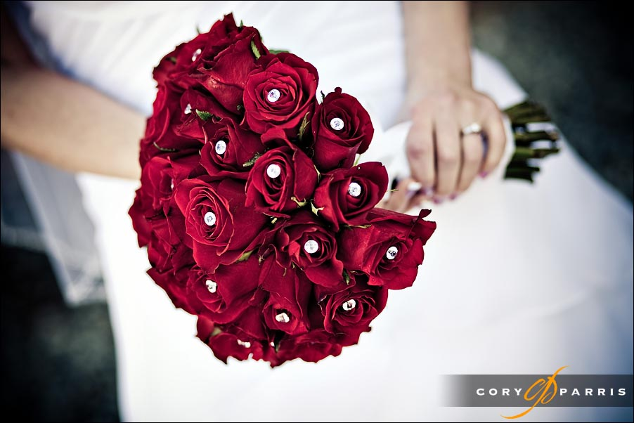 red roses flower bouquet for wedding