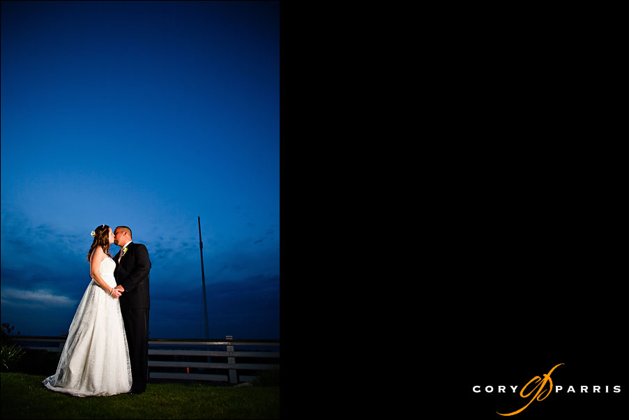 bride and groom portrait at night by seattle wedding photographer cory parris