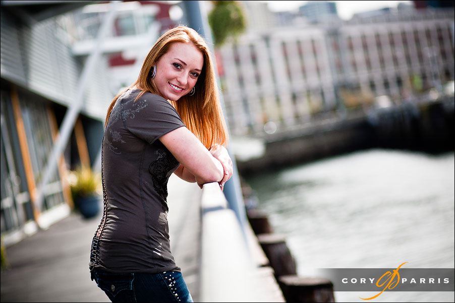 portrait of a senior girl at the seattle waterfront by seattle portrait photographer cory parris