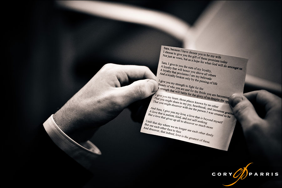 the grooms wedding vows by seattle wedding photojournalist cory parris