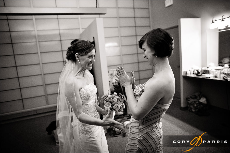 excited bride just before the wedding by seattle wedding photojournalist cory parris