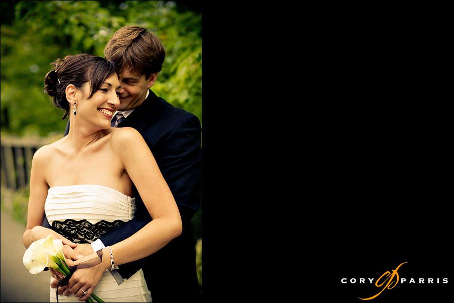 portrait of a wedding couple by seattle wedding photographer cory parris