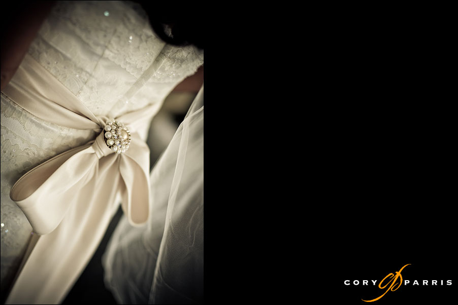 back of the wedding gown by seattle wedding photographer cory parris