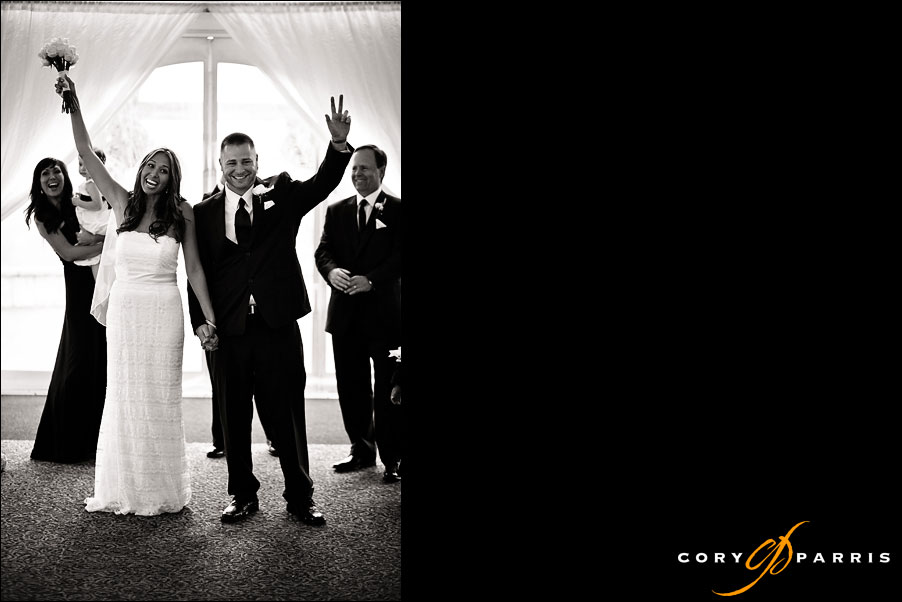 bride and groom married at their newcastle golf club wedding
