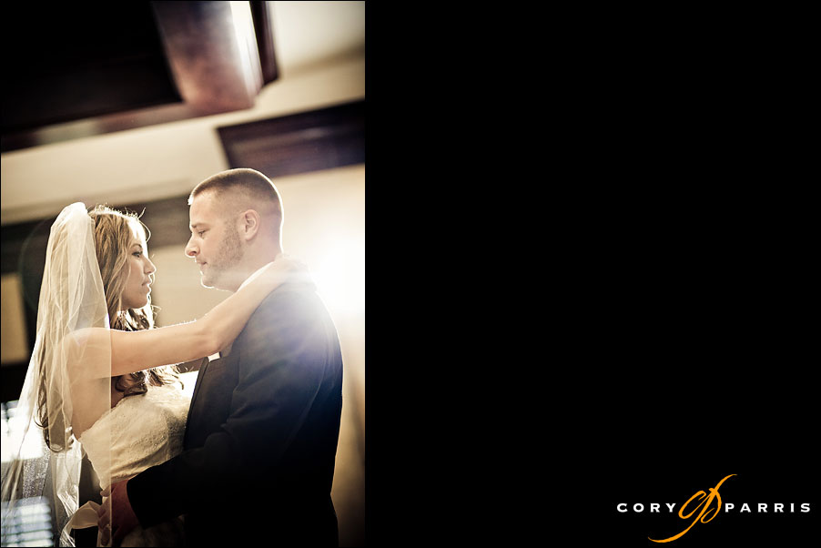 bride and groom first dance in the muirfield room at the newcastle golf club