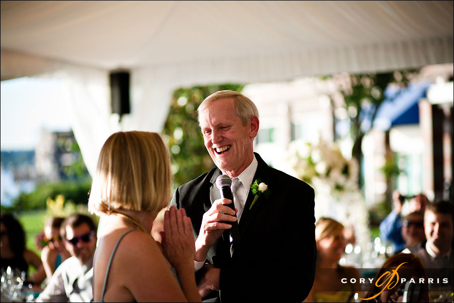 father of the bride toasting his wife by seattle wedding photojournalist cory parris