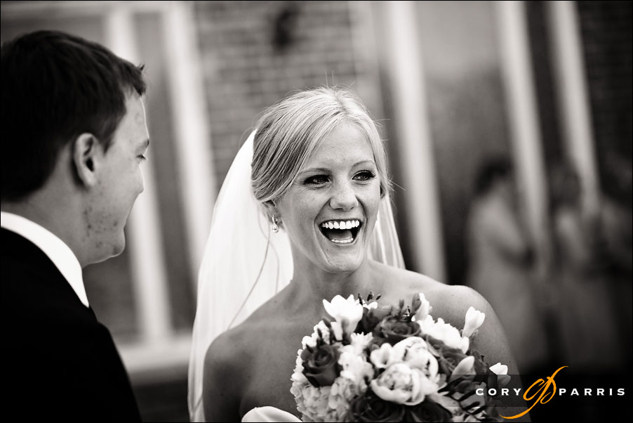 bride laughing by seattle wedding photojournalist cory parris