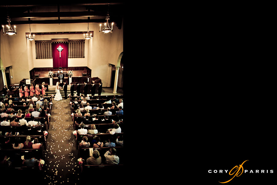 interior of the church during wedding ceremony by seattle wedding photojournalists cory parris