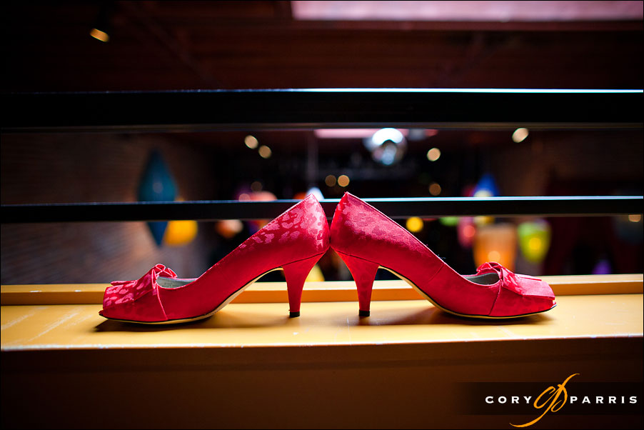 red wedding shoes by seattle wedding photojournalist cory parris