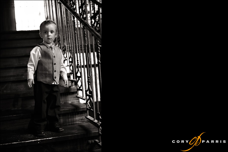 boy on the stairs by seattle wedding photojournalist cory parris