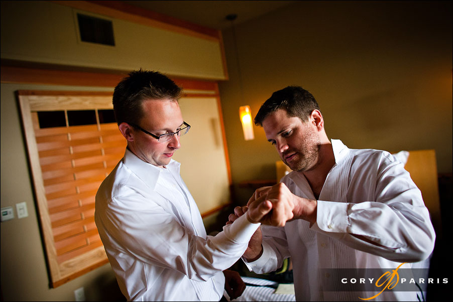 groom and groomsmen getting ready by seattle wedding photojournalist cory parris