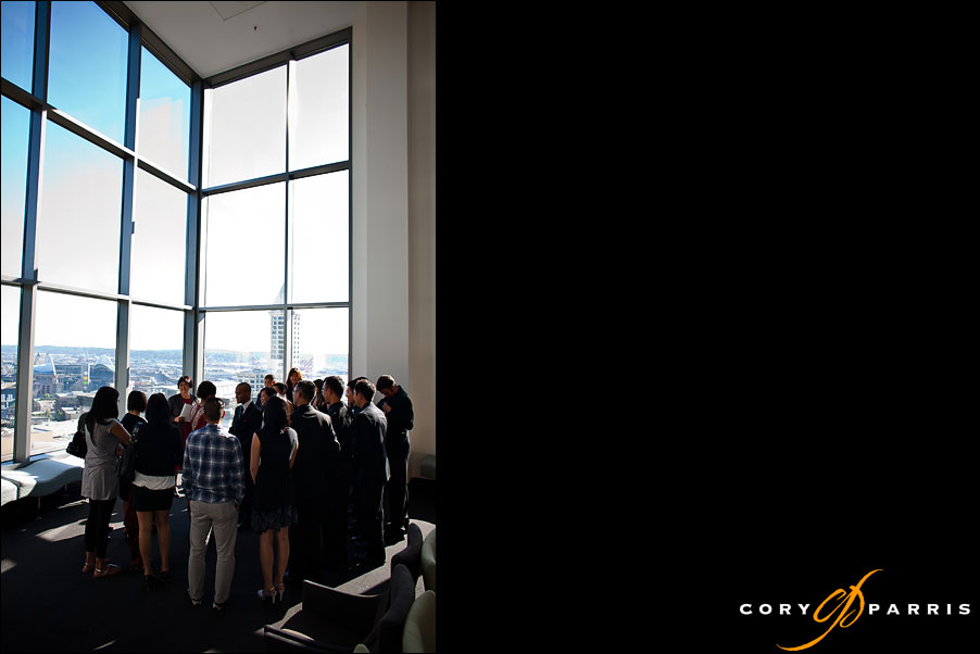 wedding in jury room at the seattle courthouse by seattle wedding photojournalist cory parris