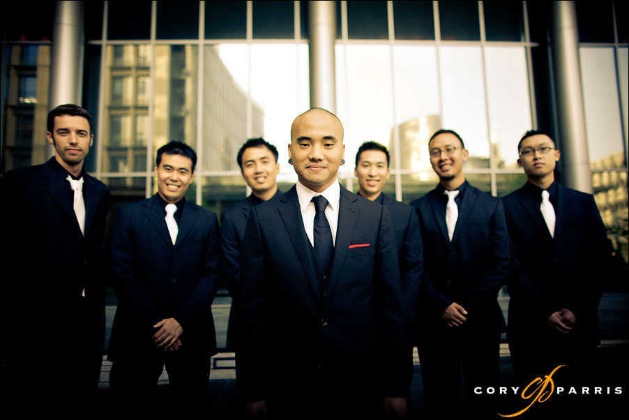 groom and the guys by seattle wedding photographer cory parris