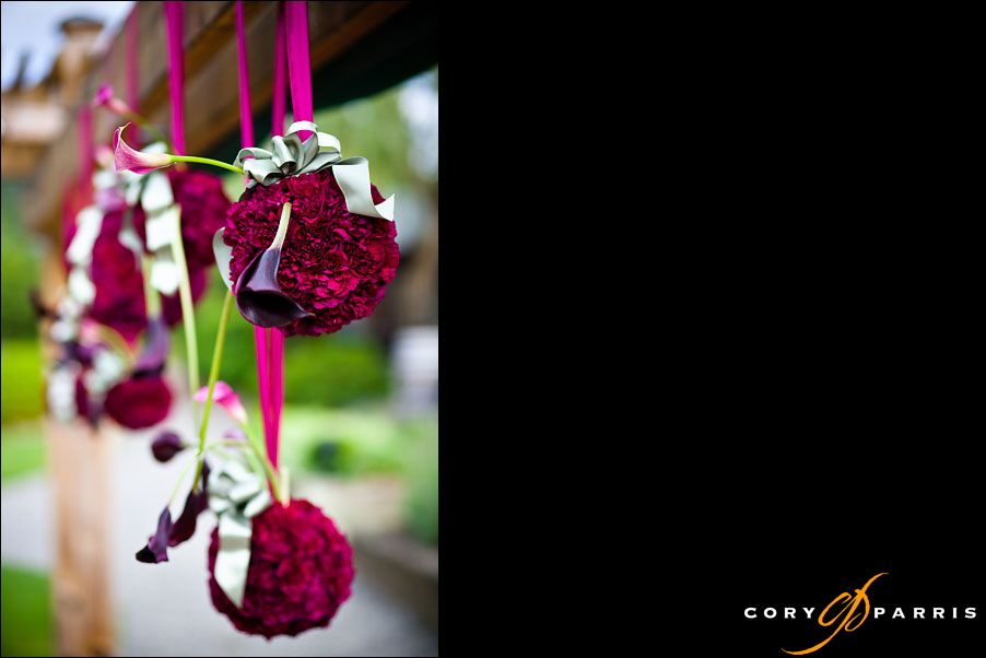 hanging flower arrangements by seattle wedding photographer cory parris