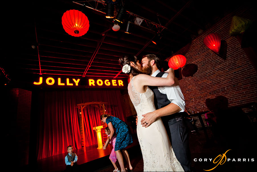 bride and groom dancing at the georgetown ballroom by seattle wedding photographer cory parris