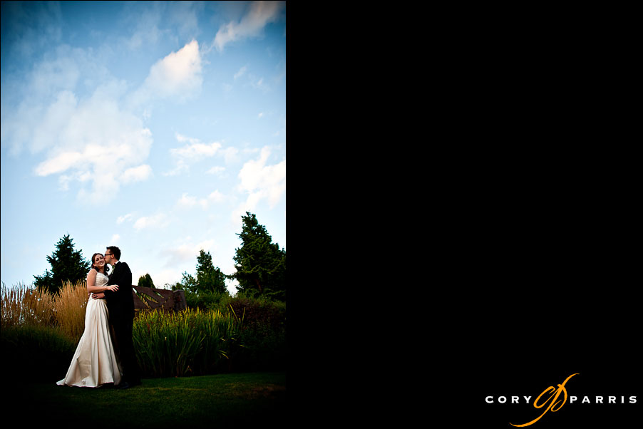 bride and groom portrait at willows lodge in woodinville wedding