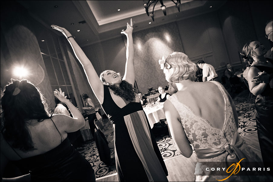 wedding guest dancing by seattle wedding photojournalist cory parris