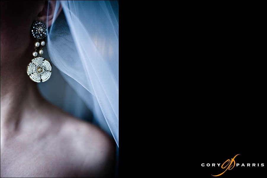 wedding ear rings by seattle wedding photographer cory parris