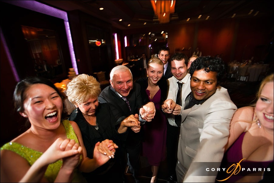 wedding dancing at hotel bellevue by seattle wedding photographer cory parris