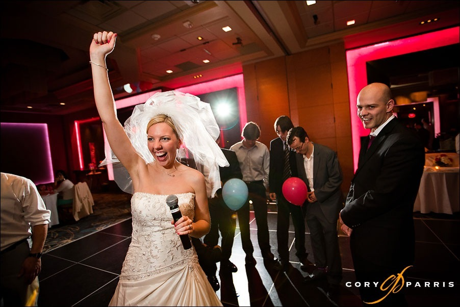 bride celebrating by seattle wedding photographer cory parris