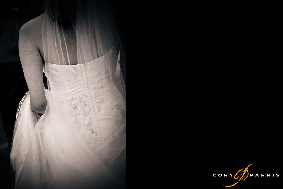 back of the wedding dress by seattle wedding photographer cory parris