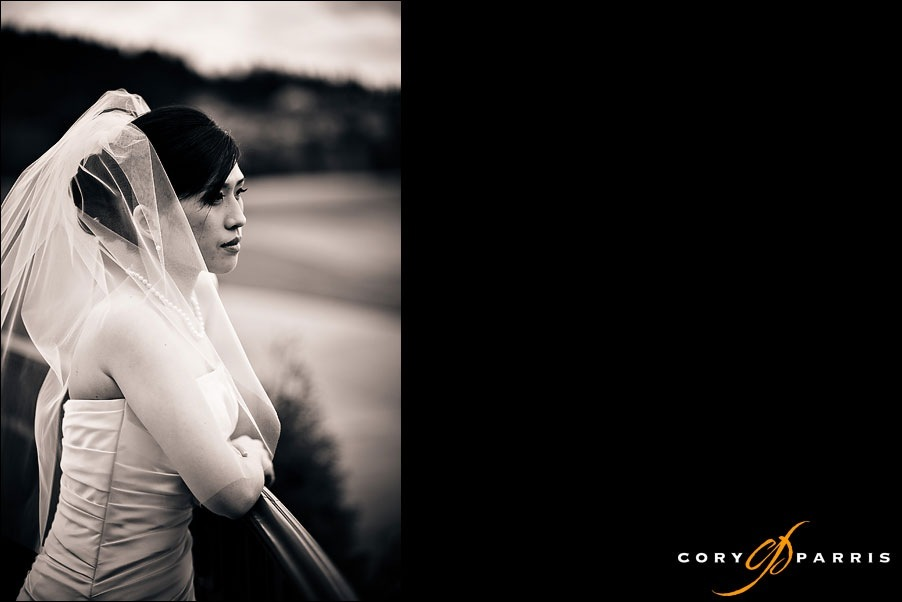 bride portrait by seattle wedding photographer cory parris
