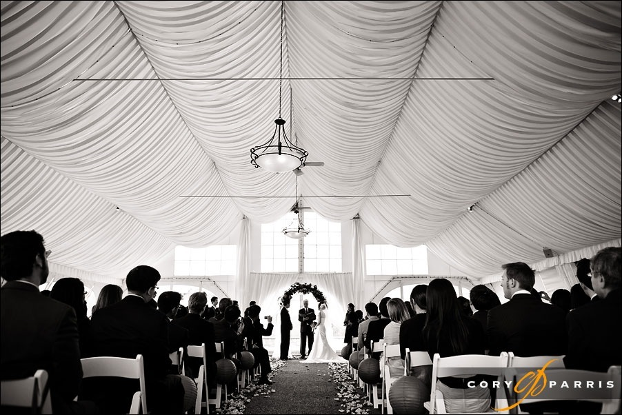wedding inside the terrace at newcastle golf club tent