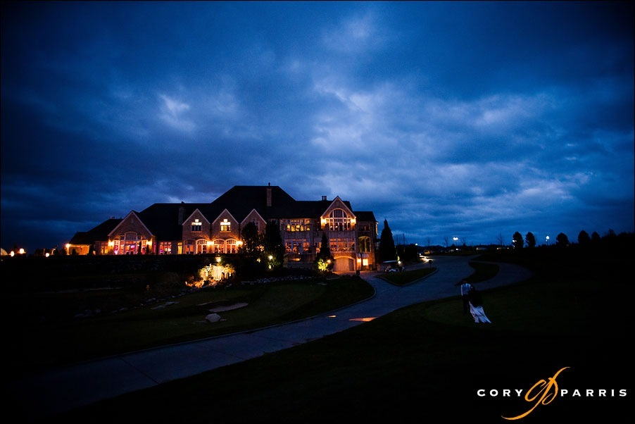 newcastle golf club at night by seattle wedding photographer cory parris
